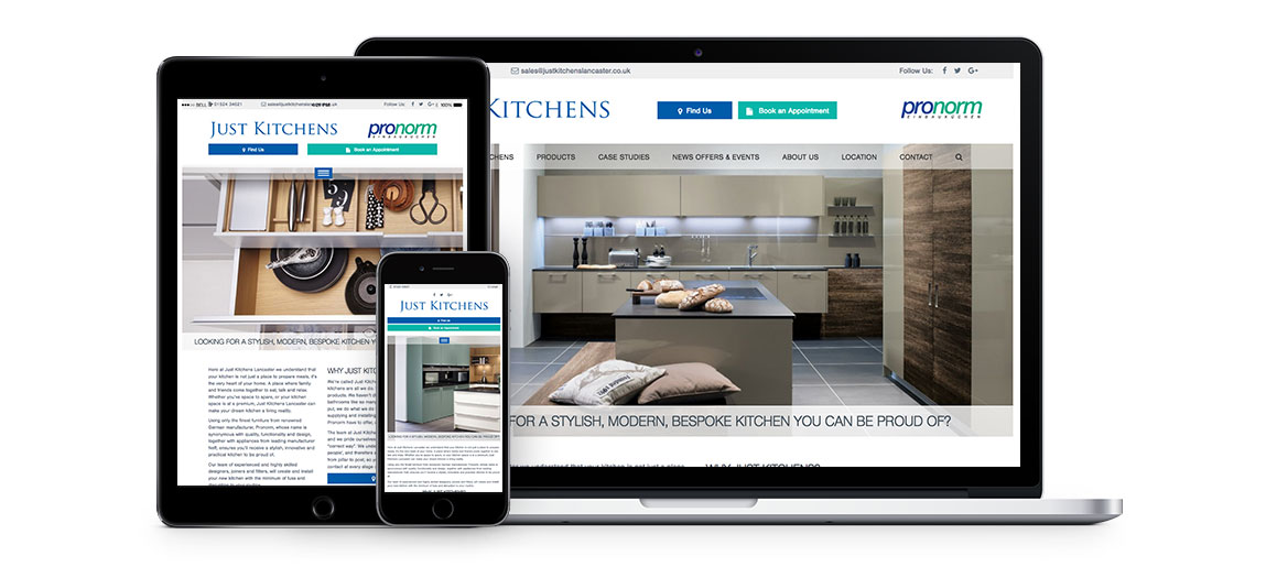 Just Kitchens website Group