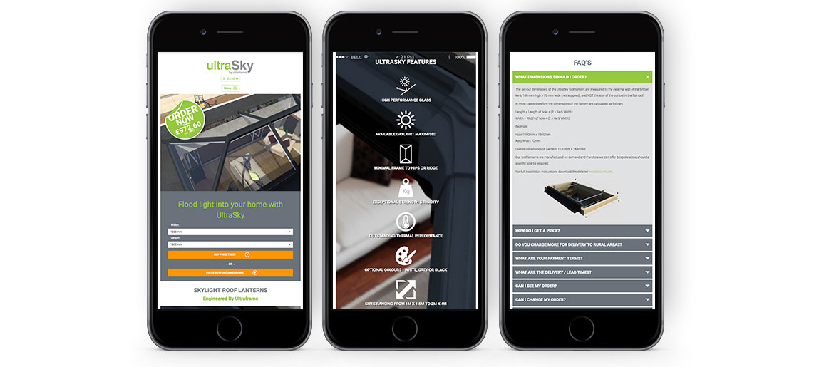 UltraSky website mobile